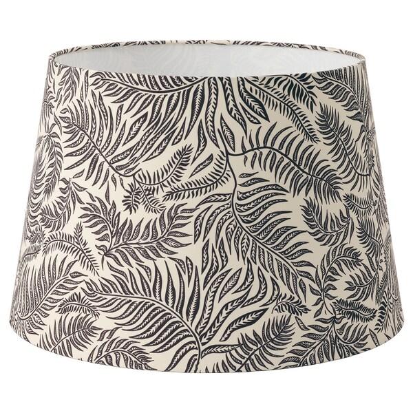 LÅGVIND Lampeskjerm, svart blader/beige, 44 cm