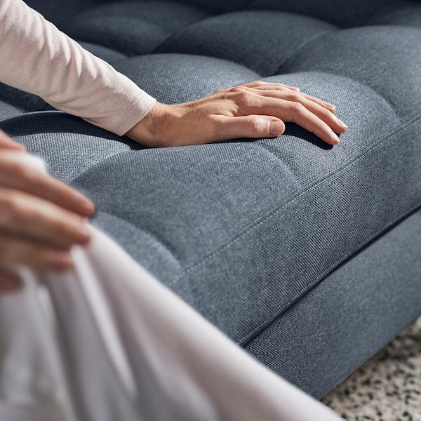 LANDSKRONA 2-seters sofa, Gunnared blå/tre