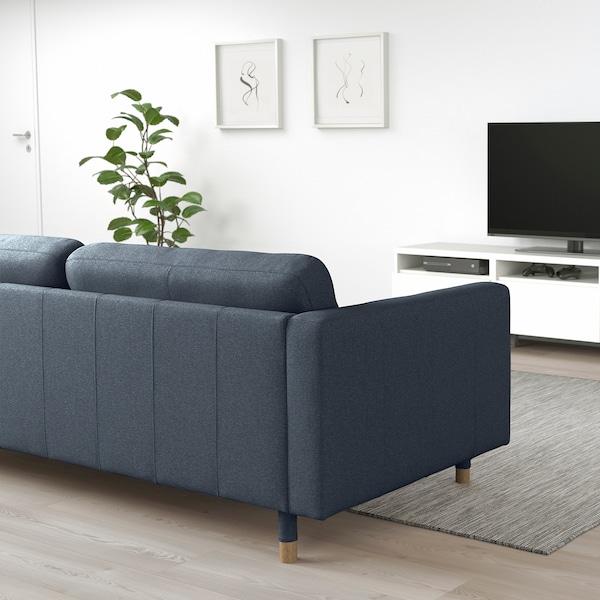 LANDSKRONA 3-seters sofa, Gunnared blå/tre