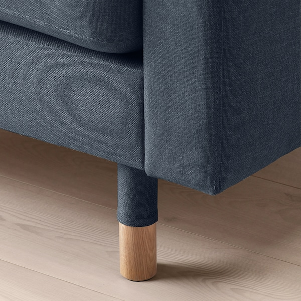 LANDSKRONA 5-seters sofa, med sjeselonger/Gunnared blå/tre