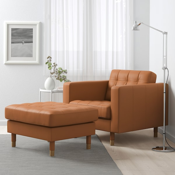 LANDSKRONA Fotskammel, Grann/Bomstad gyllenbrun/tre