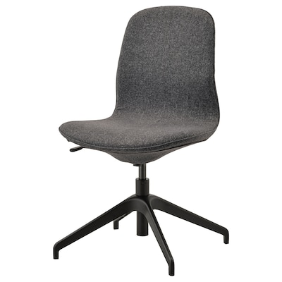 LÅNGFJÄLL Konferansestol, Gunnared mørk grå/svart