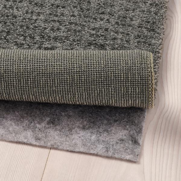 LANGSTED Teppe, kort lugg, lys grå, 60x90 cm