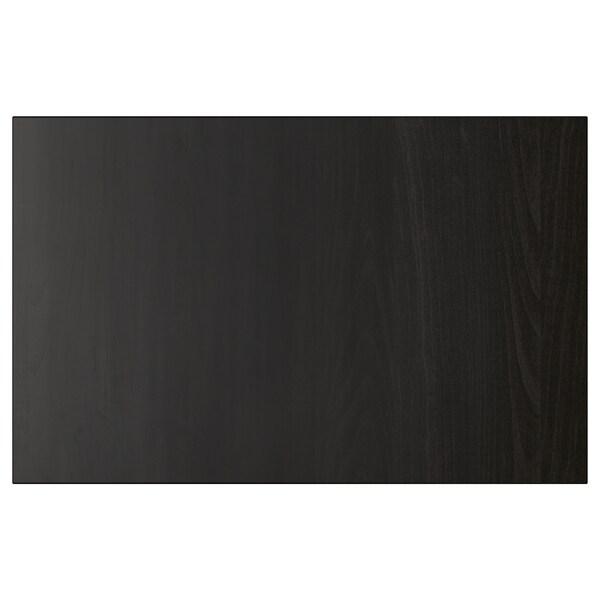 LAPPVIKEN Dør-/skuffefront, brunsvart, 60x38 cm