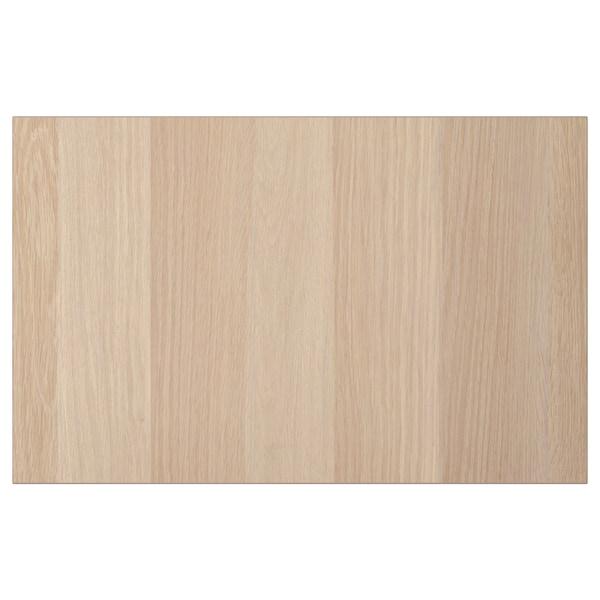 LAPPVIKEN Dør-/skuffefront, hvitbeiset eikemønster, 60x38 cm