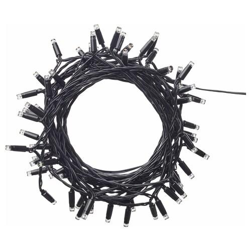 LEDLJUS LED-lyslenke med 64 lys utendørs svart 4 m 15 cm 2.2 W 13.5 m