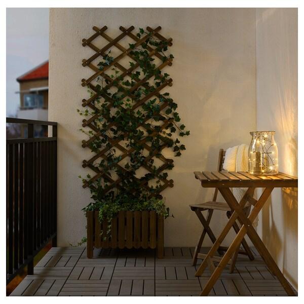 LEDLJUS LED-lyslenke med 12 lys, utendørs/batteridrevet svart