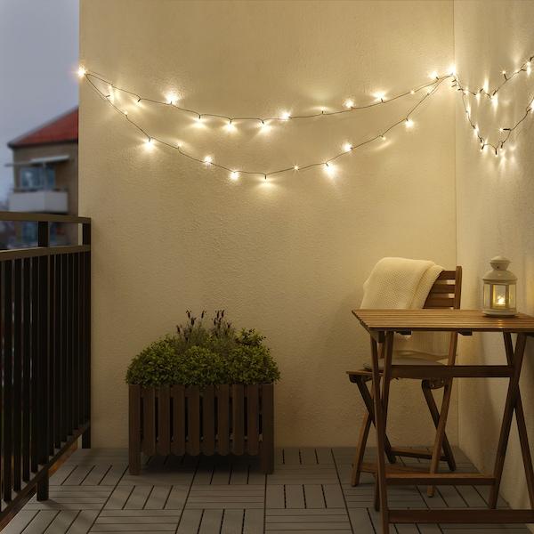 LEDLJUS LED-lyslenke med 64 lys, utendørs svart