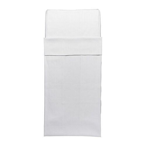 LEKLYSTEN Sengesett til sprinkelseng , hvit Dynetrekk lengde: 125 cm Dynetrekk bredde: 110 cm Putetrekklengde: 35 cm Putetrekkbredde: 55 cm
