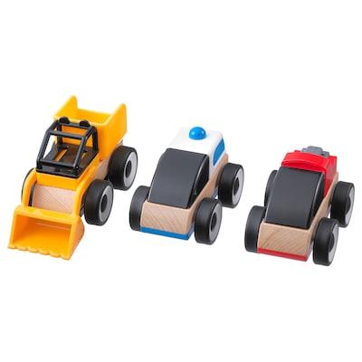 LILLABO kjøretøy flere farger 11 cm 7 cm 12 cm 3 stk.