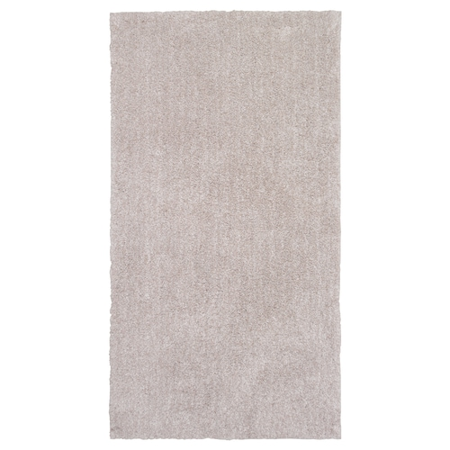 LINDKNUD teppe, lang lugg beige 150 cm 80 cm 9 mm 1.20 m² 1610 g/m² 950 g/m² 26 mm