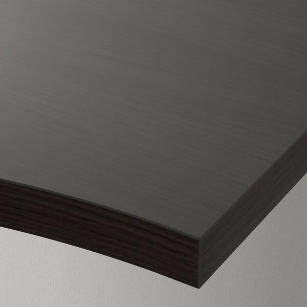 LINNMON hjørnebordplate brunsvart 120 cm 120 cm 3.4 cm 50 kg