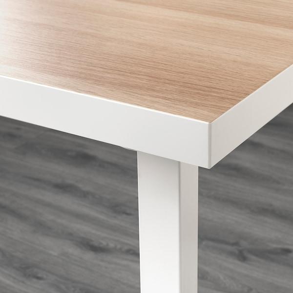 LINNMON / GODVIN Bord, hvit hvit beis/hvit, 120x60 cm