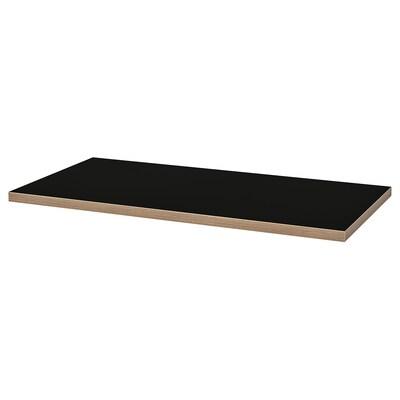 LINNMON bordplate svart/kryssfiner 120 cm 60 cm 3.4 cm 50 kg