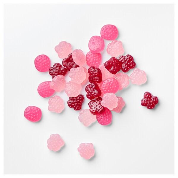 LÖRDAGSGODIS Søtt gelegodteri, bringebær, tranebær eller skogsbærsmak