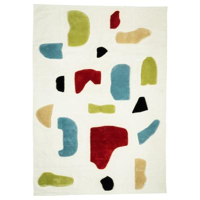 LOKALT Teppe, natur flerfarget/håndlaget, 170x240 cm