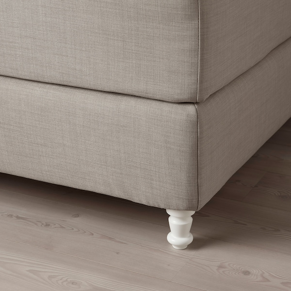 LOMMEDALEN Kontinentalseng, Hövåg fast/medium/Tustna Skiftebo lys beige, 180x200 cm