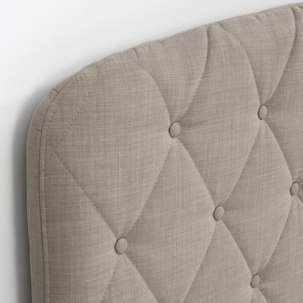 LOMMEDALEN Kontinentalseng, Hövåg medium/Tussöy Skiftebo lys beige, 140x200 cm