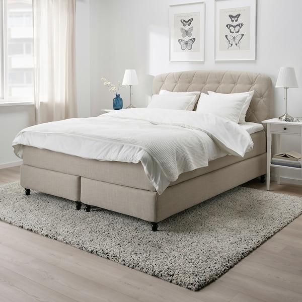 LOMMEDALEN Kontinentalseng, Hövåg medium/Tustna Skiftebo lys beige, 180x200 cm