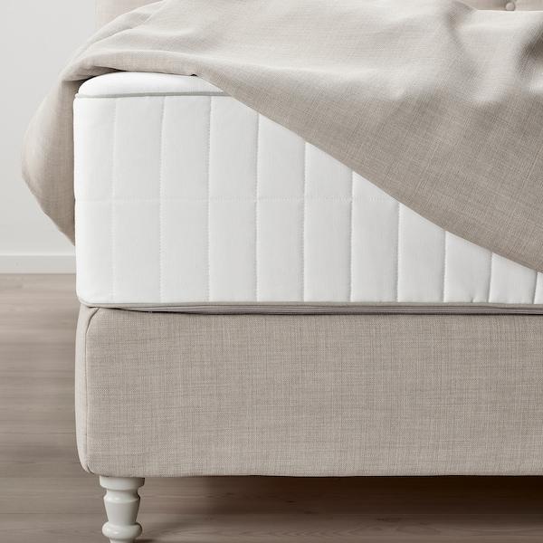 LOMMEDALEN Kontinentalseng, Hokkåsen fast/Tustna Skiftebo lys beige, 160x200 cm
