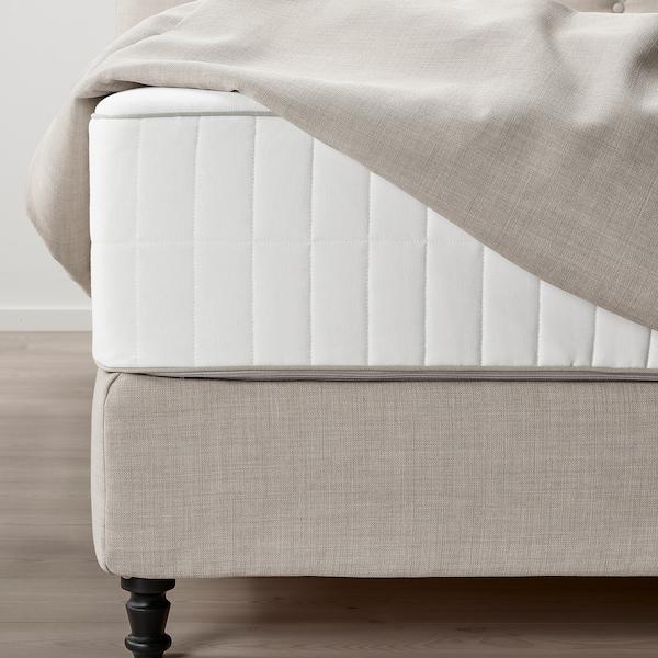 LOMMEDALEN Kontinentalseng, Hokkåsen medium/Tustna Skiftebo lys beige, 160x200 cm