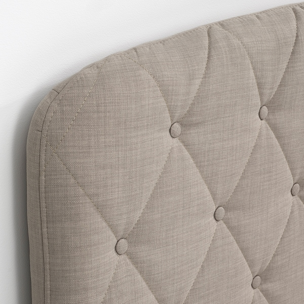 LOMMEDALEN Kontinentalseng, Hyllestad medium/Tussöy Skiftebo lys beige, 160x200 cm