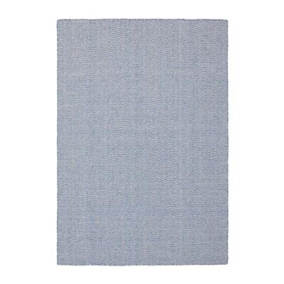 LOVRUP Teppe, flatvevd, håndlaget blå, 133x195 cm