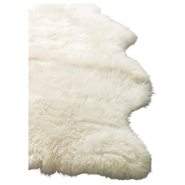 LUDDE saueskinn offwhite 85 cm 55 cm 0.36 m²