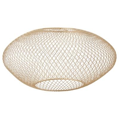LUFTMASSA Lampeskjerm, messingfarget ovalt mønster, 37 cm
