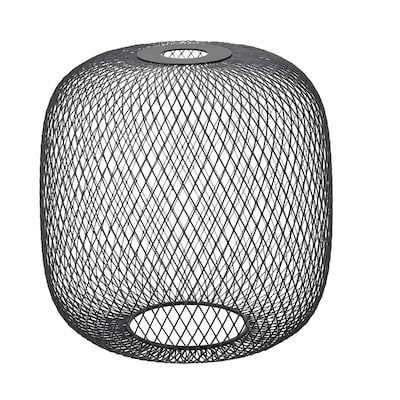 LUFTMASSA Lampeskjerm, svart avrundet, 26 cm