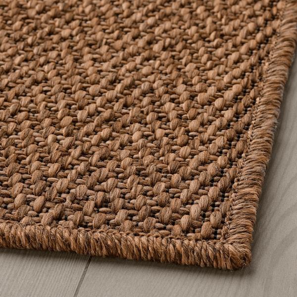 LYDERSHOLM Teppe flatvevd, inne/ute, mellombrun, 80x150 cm
