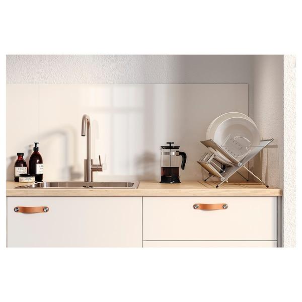 LYSEKIL Veggplate, dobbeltsidig hvit/lys grå betongmønstret, 119.6x55 cm