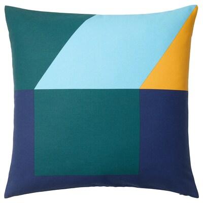 MAJALISA putetrekk blå/grønn/gul 50 cm 50 cm
