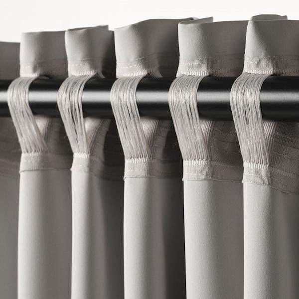 MAJGULL Lysdempende gardiner, lys grå, 145x250 cm