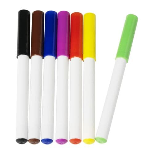 MÅLA Whiteboardpenn, flere farger Antall i pakken: 7 stk.