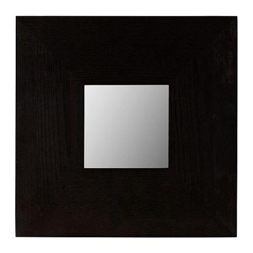 MALMA Speil, brunsvart Bredde: 25.5 cm Høyde: 25.5 cm Tykkelse: 1 cm