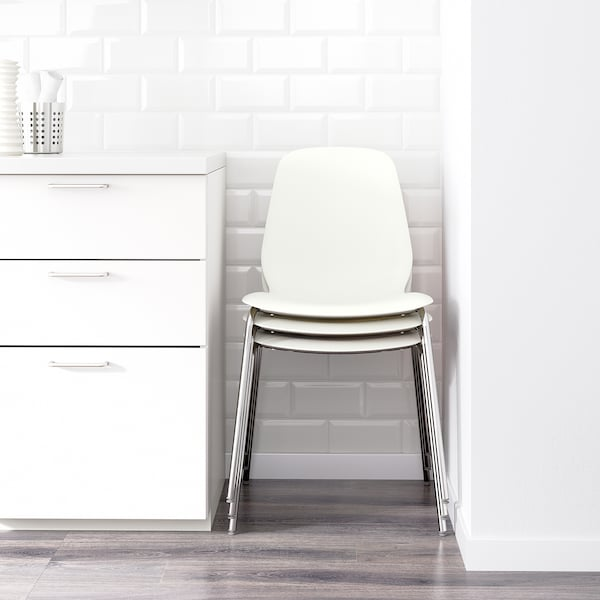 MELLTORP / LEIFARNE bord og 2 stoler marmormønstret hvit/forkrommet 75 cm 75 cm