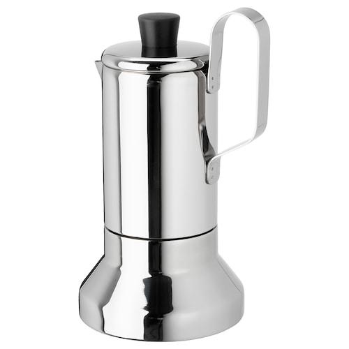 METALLISK espressobrygger rustfritt stål 22 cm 12 cm 0.4 l