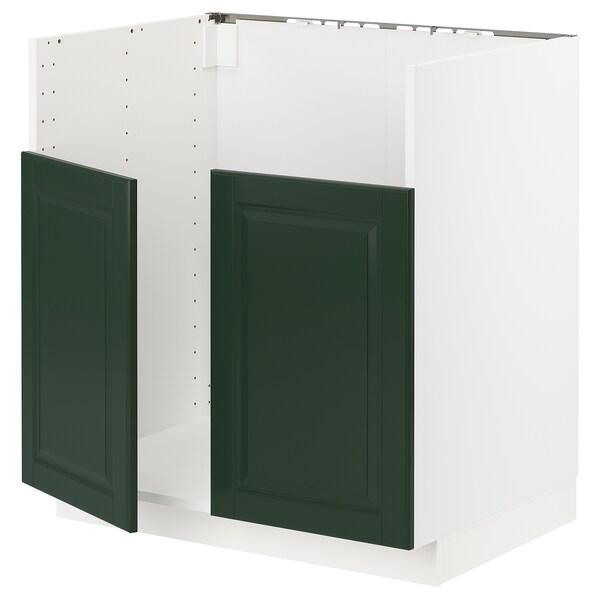 METOD benkeskap til BREDSJÖN dobbel kum hvit/Bodbyn mørk grønn 80.0 cm 61.6 cm 88.0 cm 60.0 cm 80.0 cm