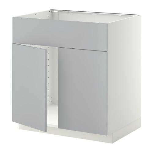 METOD Benkeskap f oppvaskkum 2d?rfr IKEA Solid konstruksjon; stammen