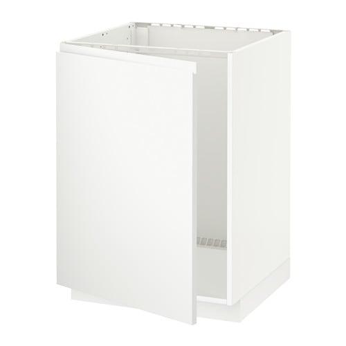METOD Benkeskap for oppvaskkum hvit, Voxtorp matt hvit IKEA