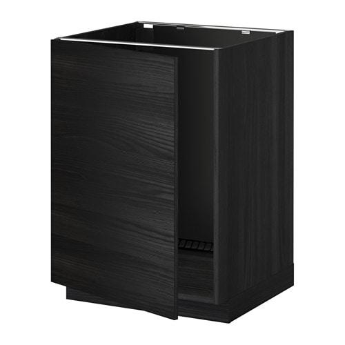 METOD Benkeskap for oppvaskkum tremonstret svart, Tingsryd tremonstret svart IKEA