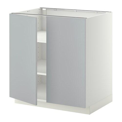 Ikea Kok Veddinge Gra :  Benkeskap m hylleplate2 dorer  hvit, Veddinge gro, 80×60 cm  IKEA