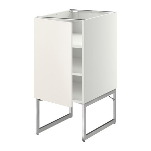 Metod benkeskap med hylleplater veddinge hvit 40x60x60 cm ikea - Piedini mobili ikea ...