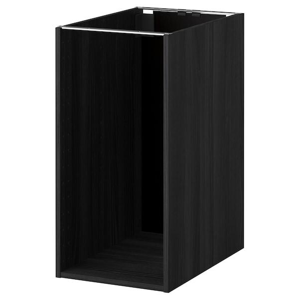 METOD Benkeskapstamme, tremønstret svart, 40x60x80 cm