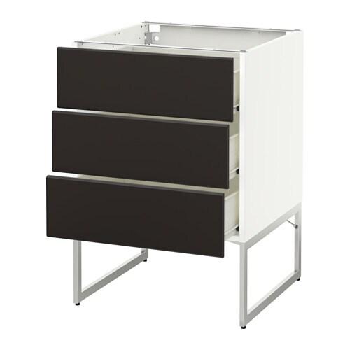metod f rvara benkeskap 3 fronter 3 med skuffer ikea. Black Bedroom Furniture Sets. Home Design Ideas