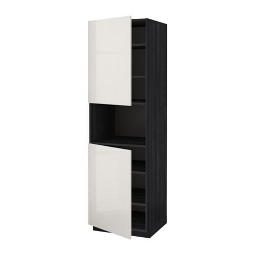 ... trem?nstret svart, Ringhult h?yglans lys gr?, 60x60x200 cm - IKEA