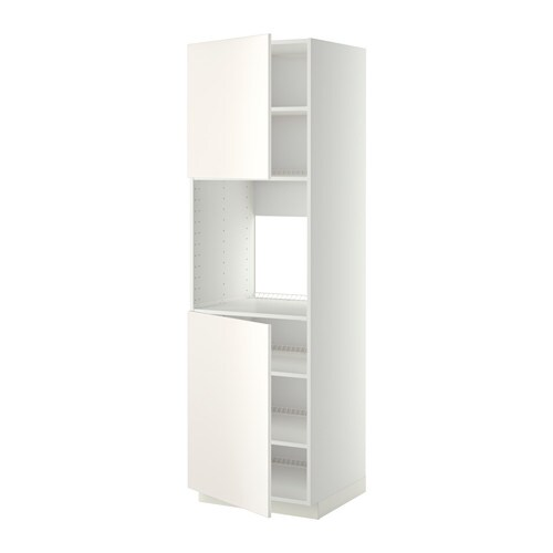 Metod h yskap f ovn 2 d rer hylleplater hvit veddinge for Ikea alzatina