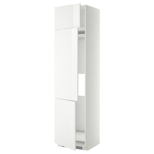 METOD høyskap f kjøleskap/fryser+ 3 dører hvit/Ringhult hvit 60.0 cm 61.8 cm 248.0 cm 60.0 cm 240.0 cm