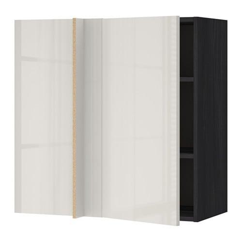... trem?nstret svart, Ringhult h?yglans lys gr?, 88x37x80 cm - IKEA